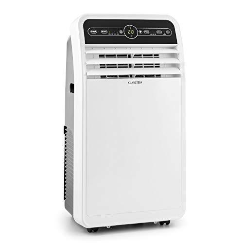 KLARSTEIN Metrobreeze New York - Climatiseur Mobile, Déshumidificateur, Ventilateur, Minuterie programmable, Température réglable 17-30°C, Télécommande, 7000BTU/h - Blanc
