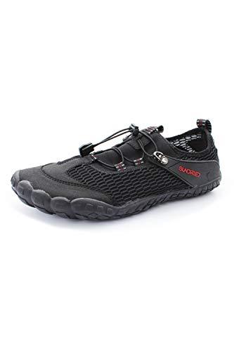 Sundried Mens Barefoot Running Shoes Minimalist Neutral Running Gym and Training Shoes (Black, Size 10 UK)