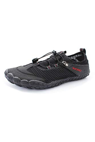 Sundried Womens Barefoot Running Shoes Minimalist Neutral Running Gym and Training Shoes (Black, Size 7 UK)