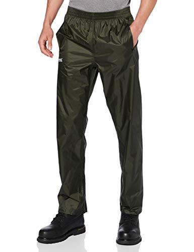 Regatta RMW149 Pantalon de pluie Homme - Vert (Bayleaf) - L (44-46 FR )