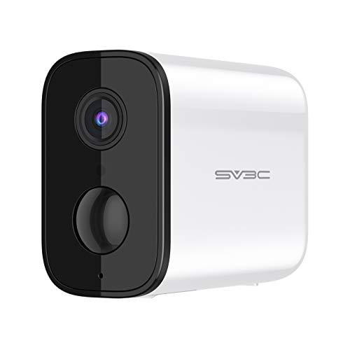 SV3C Telecamera Wifi Esterno 5000mAh Batteria Wifi senza Fili, 1080P Telecamera di Videosorveglianza , Rilevazione di Movimento Intelligente, Audio Bidirezionale, Nisione Notturna