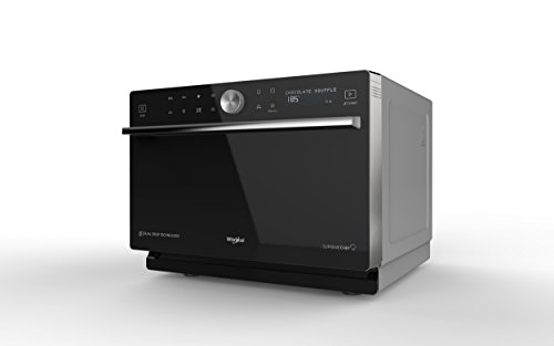 Whirlpool MWP 3391 SB Comptoir Micro-onde combiné 33L 1000W Noir, Argent - Micro-ondes (Comptoir, Micro-onde combiné, 33 L, 1000 W, Rotatif, Tactil, Noir, Argent)