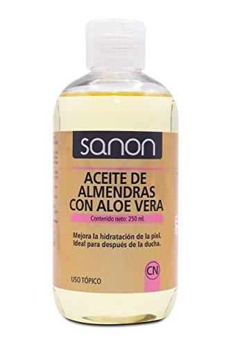 SANON Cosmética Natural, Aceite De Almendras Con Aloe Vera,