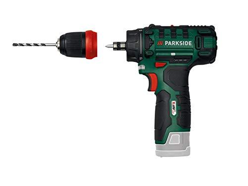 Trapano avvitatore a batteria Parkside PBSA 12 X12V, blocco mandrino, LED, in valigetta (senza caricatore e batteria)