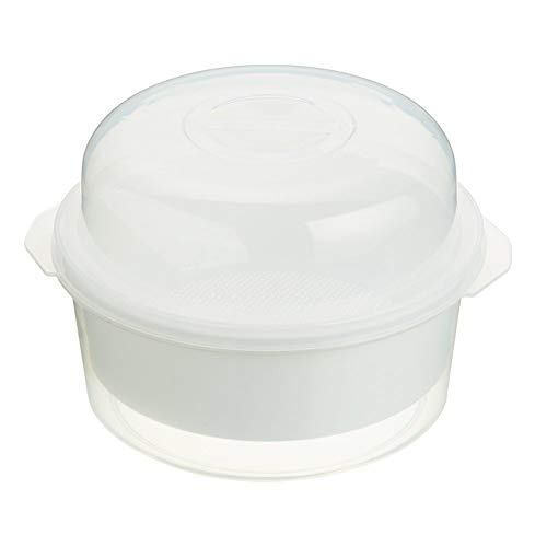 Kitchen Craft KCMSTEAMER Set Pentola da Microonde per Cottura al Vapore, 2.2 l, Bianco
