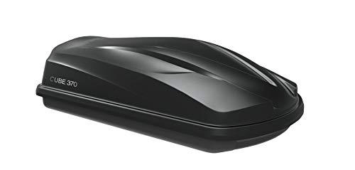 MOOVE Baule Box Portatutto da Tetto Auto 370 Litri Nero Opaco Universale 75 kg di Carico...