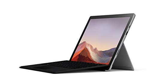 """Pack Exclusif Microsoft Surface Pro 7 (Windows 10, écran tactile 12.3"""", Intel Core i5, 8Go RAM, 128Go SSD) + Type Cover Noir + Stylet Surface Platine