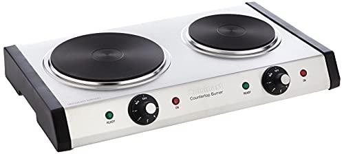 Cuisinart Cast-Iron Double Burner, 11.5'(L) x 19.5'(W) x...