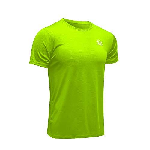 MEETWEE Maglietta Uomo, Maglia a Manica Corta Asciugatura Rapida Fitness T-Shirt da Sport per Corsa Palestra Fitness (Green, M)