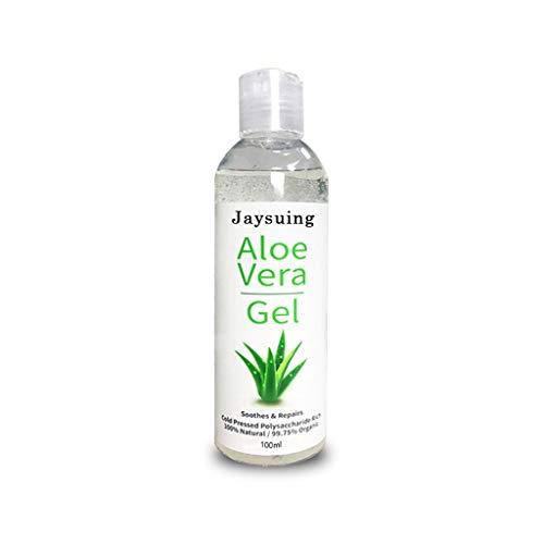 HebeTop Organic Aloe Vera Gel for DIY Hand Cleaner, Portable Mini Hand Soap Gel Moisturizing Disposable No Clean (1x Aloe Vera Gel, Multicolor (100ML))