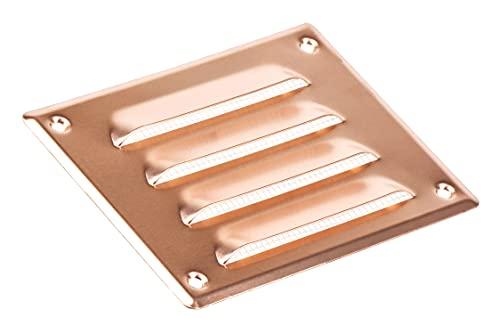 Griglia di ventilazione in rame, 140 x 105 mm, in metallo, con griglia di ventilazione