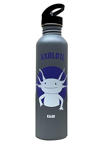 KA-AB Botella de Acero Inoxidable para Agua diseño Axolotl Capacidad 1lt Libre de BPA