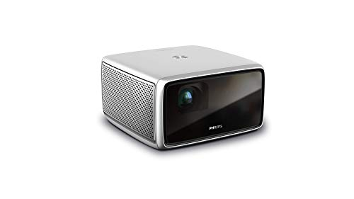 """Philips Screeneo S4 (SCN450) All-in-one Full HD HDR, Short Throw, up to 160"""" Display, Home Theater Projector TV up to 1,800 Color Lumens, Android OS, Apps, Auto Keystone, Auto Focus, Digital Zoom"""