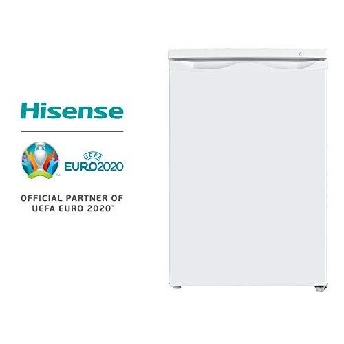 Hisense FV105D4AW1 Congelatore Sottotavolo Monoporta, 3 Cassetti, 82 Litri, 40 Decibel