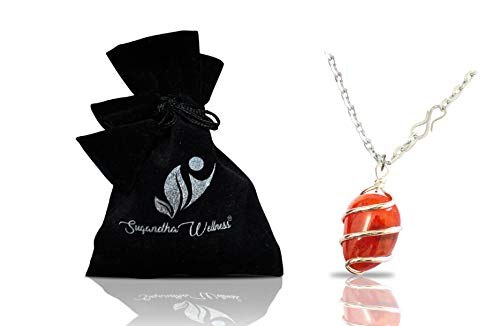 Natural Carnelian Crystal Healing Necklace - for Sacral...