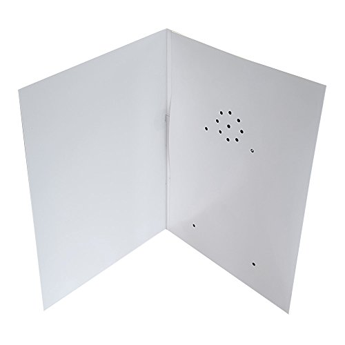 Talking Products, Personalized Recordable Greeting Card, 40 Seconds Recording with Replaceable Batteries. Record and Send your own Custom Voice Message, Music or Sound Effects.