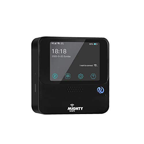 MightyWifi Cloud Black Updated Worldwide high Speed Hotspot w/US 50 GB & Global 3GB Data 30 Day, Pocket Mifi, Personal, Reliable, Wireless Internet, Router, No Sim Card, Roaming, Home, Travel
