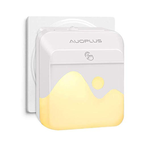 AUOPLUSMulticolore LED LuceNotturnaBambiniLampada da Presa RGB Regolabile ControlloTouch,Sensore...