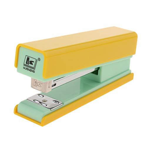 CUTICATE Pinzatrice Cucitrice Meccanica Standard Classica Per Ufficio Plastica, Acciaio Giallo