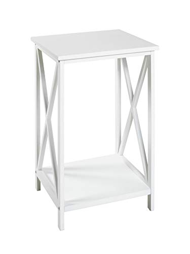 HAKU Möbel Tavolino, MDF, Bianco, 30 x 30 x 50 cm
