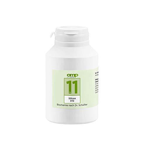 Schüssler Salz Nr. 11 Silicea D12 | 1000 Tabletten | Das Salz der Haare, der Haut und des Bindegewebes | glutenfrei