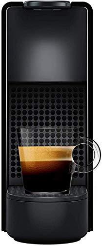 NESPRESSO  Cafetera Essenza Mini, Color Negra (Incluye obsequio de 14 cápsulas de café)