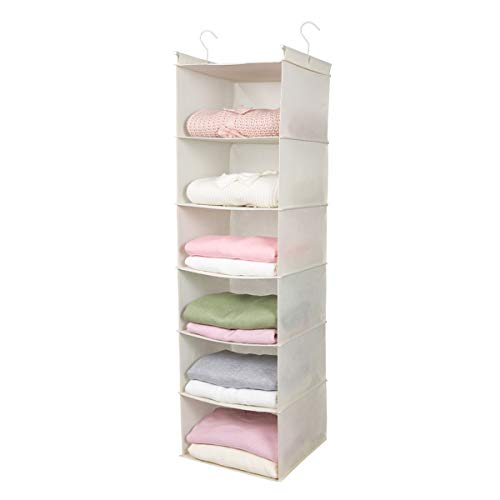 MAX Houser 6 Tier Shelf Hanging Closet Organizer, Cloth Hanging...