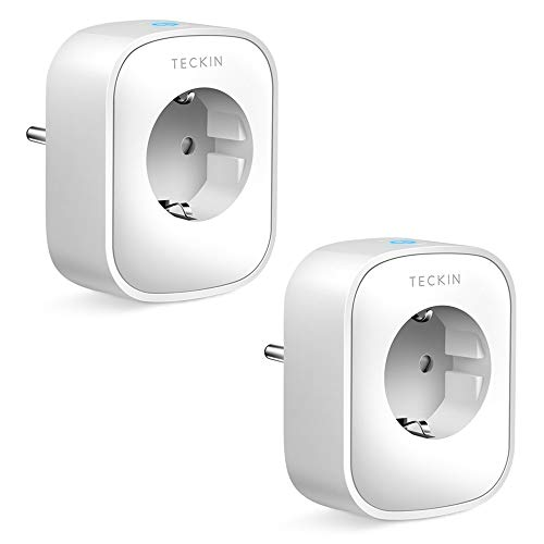 TECKIN Enchufe Inteligente, 16A 3680W Enchufe WiFi Con Monitor de...