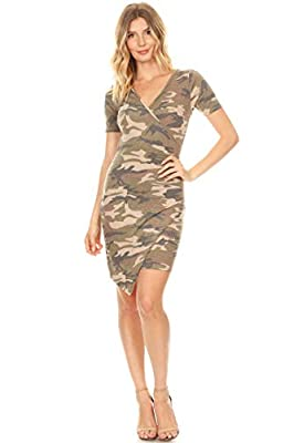 Pattern print, short sleeve, faux wrap dress with an asymmetric hem Our products comfort, perfect for casual wear for any occasion. Choose from our diverse options and see which one fits your style the best! Our products which are great in quality ye...