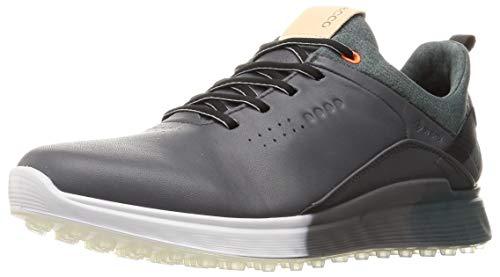 ECCO Men's S-Three Gore-TEX Golf Shoe, Magnet, 45 M EU (11-11.5 US)