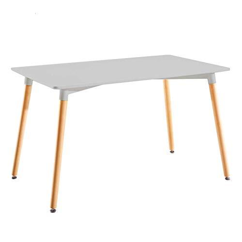 Mesa de Jantar Eames Premium Retangular Branca 120 cm