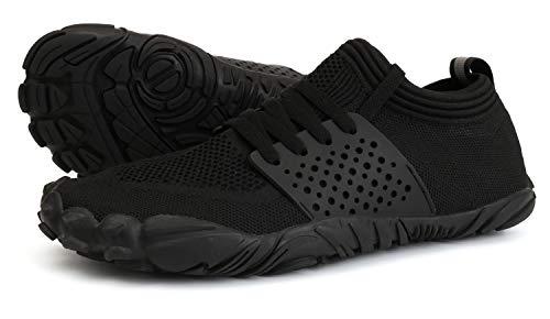 JOOMRA Minimalist Trail Running Shoes Sock Women Wide Camping Athletic Hiking Trekking Toes Gym Workout Yoga Sneakers Lightweight Footwear Black Size 9.5