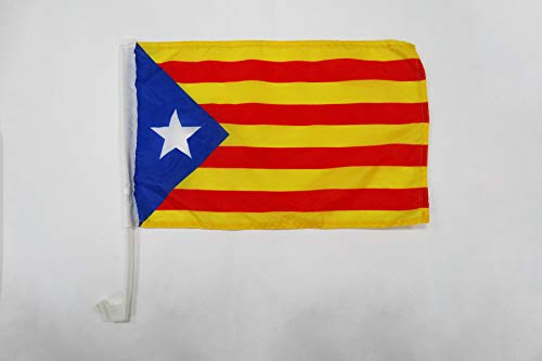 AZ FLAG Bandera de Coche de CATALUÑA ESTELADA BLAVA 45x30cm - BANDERINA para Auto CATALANA INDEPENDENTISTA – Catalunya 30 x 45 cm