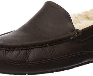 UGG Australia Men's Ascot Leather Slippers, 10, China Tea