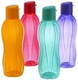 Lot de 4 bouteilles d'eauTupperware - Fliptop -1litre - À réfrigérer