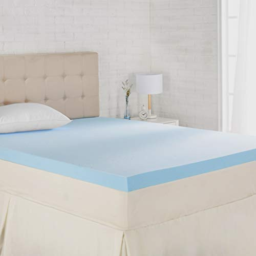 Amazon Basics Cooling Gel-Infused Memory Foam Mattress Topper - Ventilated, CertiPUR-US Certified Foam, 3-Inch - Twin XL