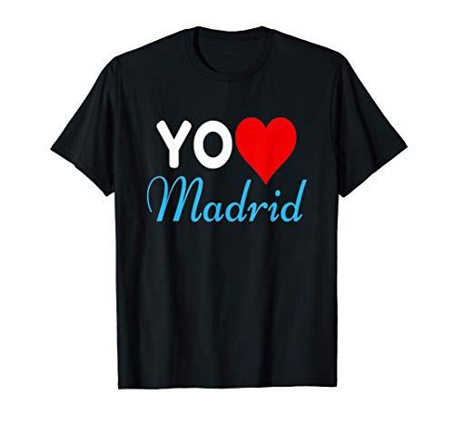 Yo Amo Madrid Capital España Orgullo Y Recuerdos De Regalo Camiseta
