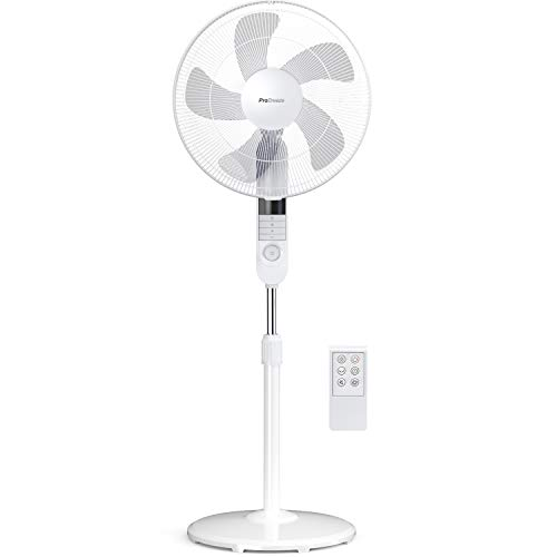 Pro Breeze Ventilatore a Piantana da 40cm con Telecomando e Display a LED. 4 modalit operative e 80...