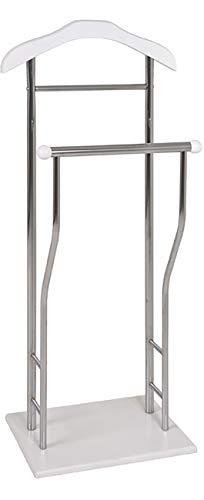 Haku Möbel Herrendiener - Stahlrohr verchromt mit Kleiderbügel Höhe 110 cm