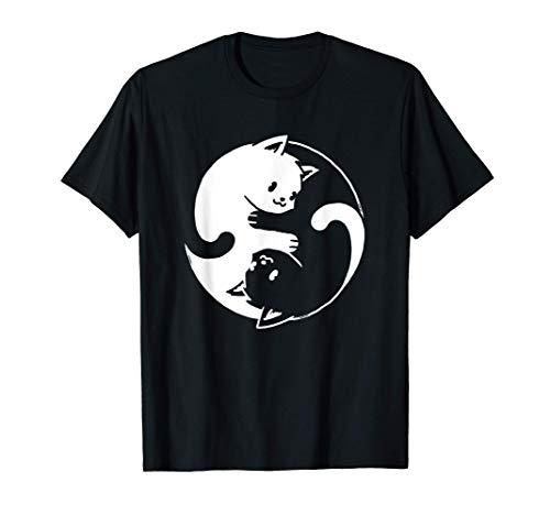 Yin Yang Cat Shirt I Love Cats Gift for Cat Lover Yoga Cat...