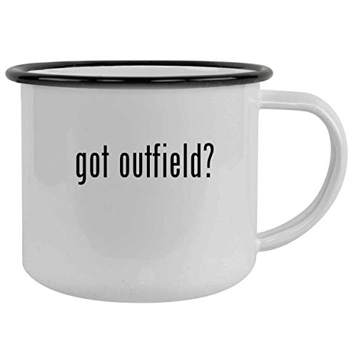 got outfield? - 12oz Camping Mug Stainless Steel, Black