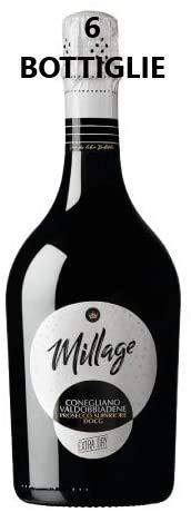 Millag Prosecco superiore DOCG Conegliano di Valdobbiadene 6 X 0.75 L
