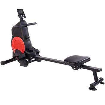 Rameur Pliable Machine Musculation Complet Machine De Sport Muet Équipement De Fitness À Domicile Réglage De La Résistance À 8 Vitesses Peut Supporter 120 Kg ( Color : Black , Size : 165*48*85cm )