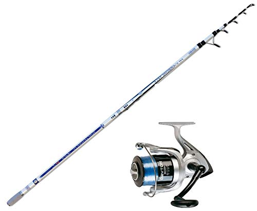 EVO FISHING Kit Surf Canna STORIONE FF Surf Leader 300-500gr + Mulinello TRABUCCO Dayton 8000