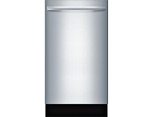 Bosch SPX68U55UC 18' 800 Series Dishwasher with 10 Place Settings Fully Integrated Control Panel 44 dBA Quiet Operation Stainless Steel Euro Tub and AquaStop Plus Protection: Stainless