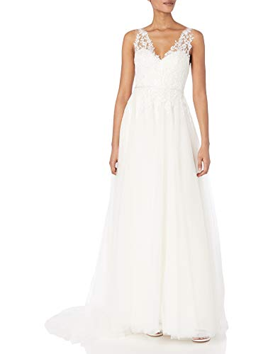 31m3FtwGVVL Illusion neckline for flattering coverage Beaded appliques and sequin tulle for romantic detail Illusion back for dramatic, flattering look