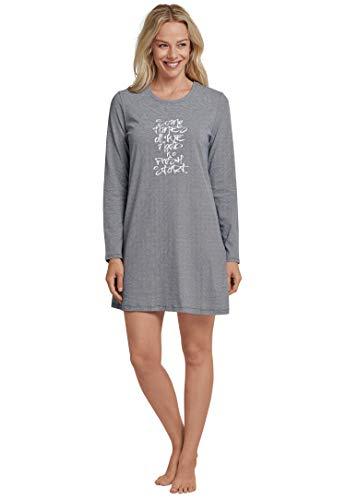 Schiesser Damen Essentials Sleepshirt 1/1 Nachthemd, Blau (Dunkelblau 803), 38