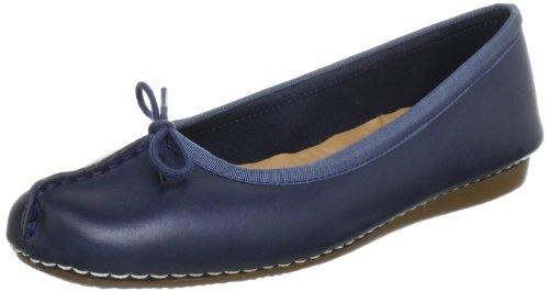 Clarks Freckle Ice, Bailarinas Mujer, Azul (Navy Leather), 40