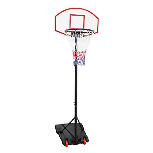 Display4top regolabile 179 - 209 cm, canestro da basket net System su ruote
