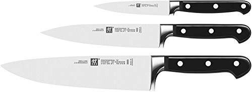 ZWILLING Professional S - Set di 3 coltelli, Acciaio Inossidabile